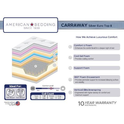 Carraway Silver Euro Top