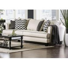 FOA Sofa, Percey Collection, Transitional Style, Off-White