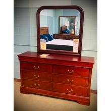 DRESSER & MIRROR in MARTINI CHERRY  *Also available in Black*          (4937-50/40,62644/43)