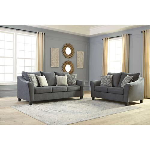 Ashley Sanzero Graphite Sofa and Loveseat