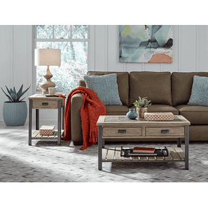 Null Furniture Inc - Chairside Cabinetin distressed Acorn Finish        (9918-22,52950)