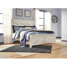 Bellaby- Whitewash- King Cross-Buck Panel Bed