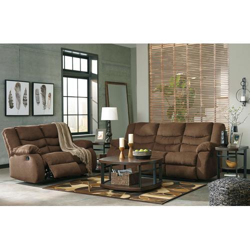Ashley Furniture - Tulen Brown Reclining Loveseat