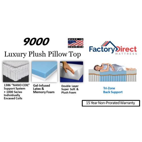 Factory Direct Mattress - 9000 - Plush - Pillow Top