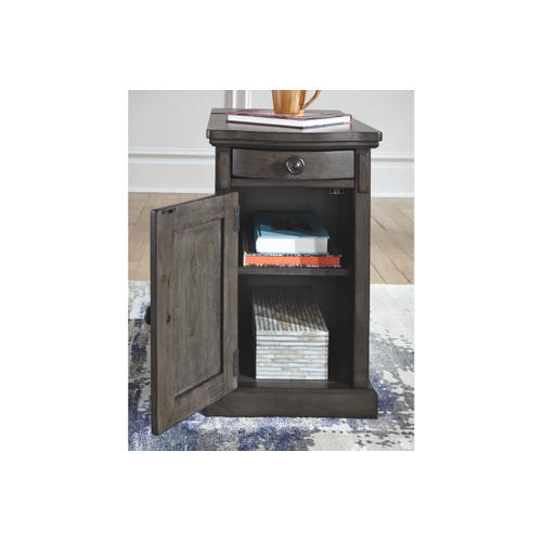 Laflorn Chairside Table/Cabinet