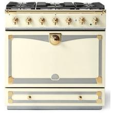 Blanc Albertine 90 with Polished Brass Accents