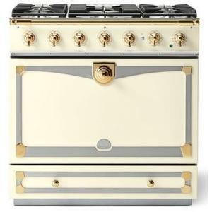 Lacornue Cornufe - Blanc Albertine 90 with Polished Brass Accents