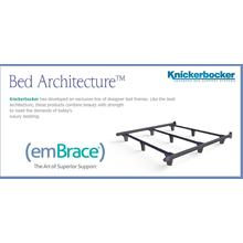 Product Image - High performance support system offers the ultimate in form and function. Embrace has exclusive patented T-shaped rails with more than twice the strength of traditional bed frames.
