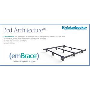 Knickerbocker Bed Frame Company - High performance support system offers the ultimate in form and function. Embrace has exclusive patented T-shaped rails with more than twice the strength of traditional bed frames.