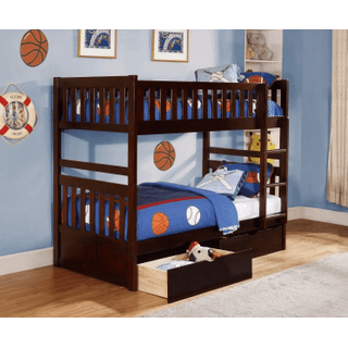 Rowe Bunk Bed Twin on Twin with Storage Drawers