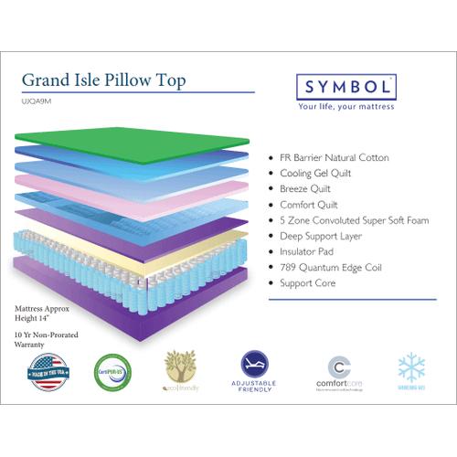 Symbol Mattress - Symbol Grand Isle Pillow Top