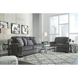 Locklin- Carbon Sofa and Loveseat