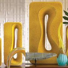 See Details - Rectangular Amoeba Vase-Yellow-Lg