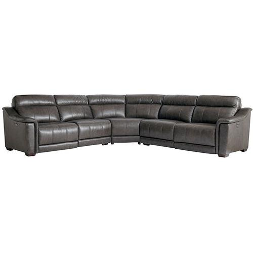 Sheffield Curved Corner Sectional in Pewter