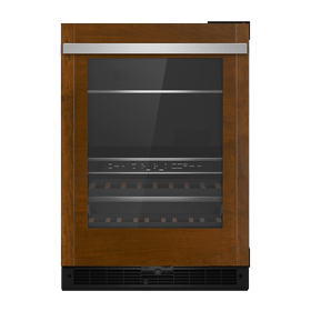 """Panel-Ready 24"""" Built-In Undercounter Beverage Center, Right Swing"""