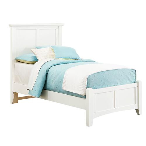 Vaughan-Bassett - Bonanaza Twin Mansion Bed White Fin.