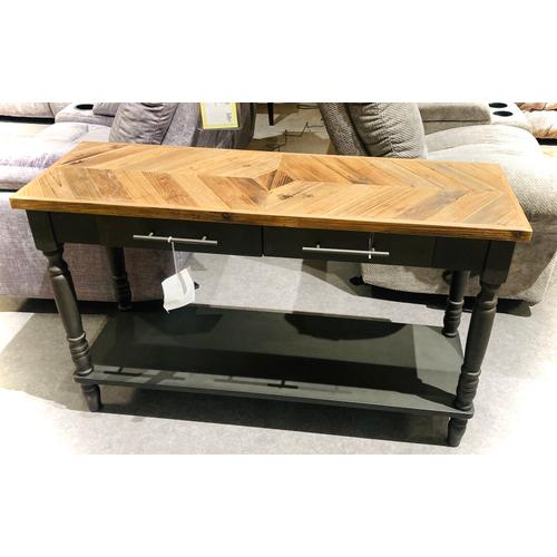 Medallion Lighting & Home Furnishings - Gahanna Reclaimed Chestnut/Black Accent Table    (AFB200NS,53120)