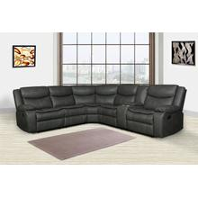 See Details - Gray Reclining Sectional