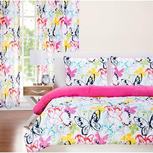 """Flutterby"" Crayola Comforter Sets Twin"
