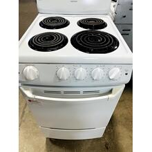 "USED- Hotpoint® 20"" Electric Free-Standing Range -- E20WHCOIL-U SERIAL #3"