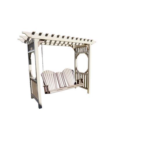 Vinyle Arbor W/5' adirondack sette swing