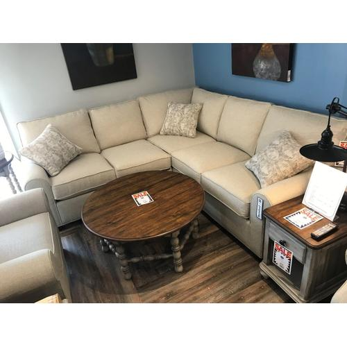 Hallagan Furniture - 2 Piece Sectional Madison Collection