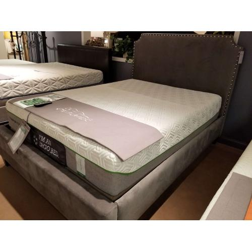 3-Piece Miranda Upholstered Queen Size Bed in Oakly Graphite Fabric