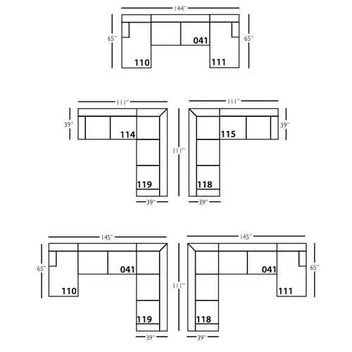 Premium Collection - Bradford Slipcover Sectional Sofa
