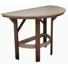 "60"" Half Round Dining Table"