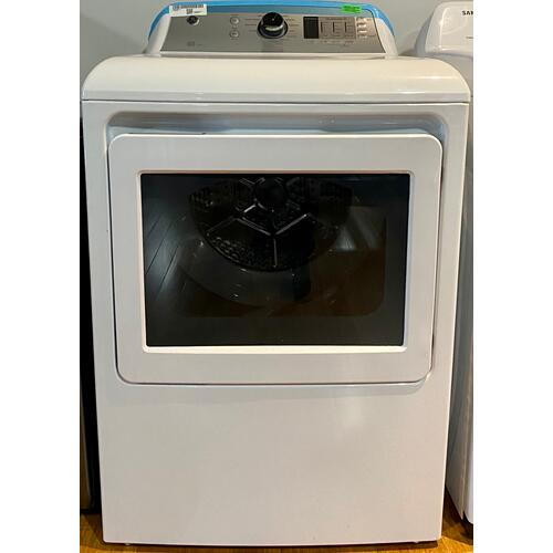 GE Appliances - GE® GTD65GBSJWS  7.4 cu. ft. Capacity aluminized alloy drum Gas Dryer with Sensor Dry(Scratches)