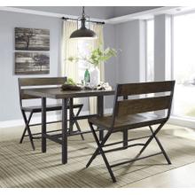 Kavara - Medium Brown - 3 Pc. - Rectangular Counter Table & 2 Double Barstools