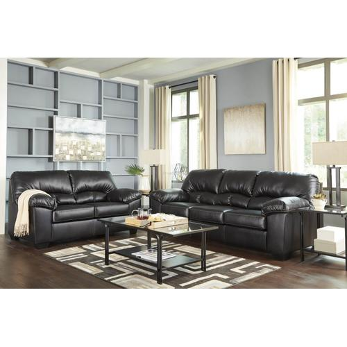 Ashley 247 Brazoria Black Sofa and Love