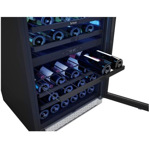 Zephyr BWN24C02AG Brisas Series 24 Inch Stainless Steel Freestanding or Built-In Wine Center 46 bottles (750 ml)