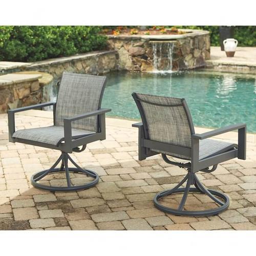Ashley Furniture - P315 Okada Patio Set - Table, 4 Side Chairs, 2 Swivel Arm Chairs