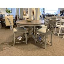 Plymouth Pedestal Table with Cushioned Chairs