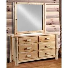 See Details - 6-Drawer Rustic Dresser