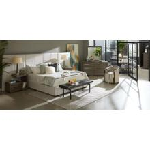 Accentrics Home Tru Modern King Bedroom Set: King Bed, Nightstand, Dresser & Mirror