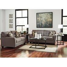 "Ashley Grey Polyester ""Tibee"" Sofa/Loveseat/2 Lamps/Coffee Table/2 End Tables"
