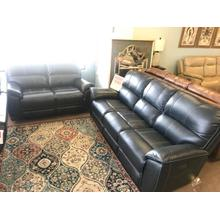 Indigo Leather Sofa & Loveseat