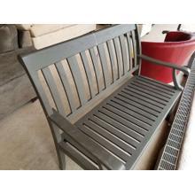 Outdoor Grey Wooden Bench