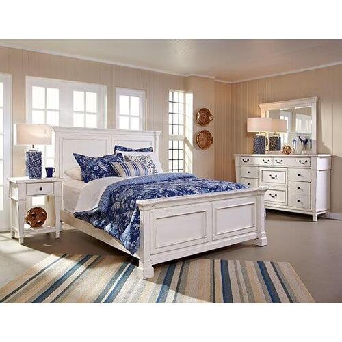 Product Image - Stoney Creek King Panel Bed, Dresser, Mirror & 1 Drawer Nightstand