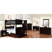 Full Full Belfort Bunk Bed with Stairs and Waterford Collection - Espresso
