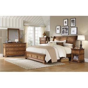 ALDER CREEK King Sleigh Storage Bed