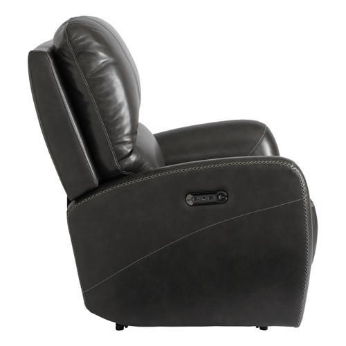 Club Level Leather Power Recliner w/ Power Tilt Headrest