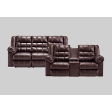Brolayne Sofa & Loveseat: Saddle