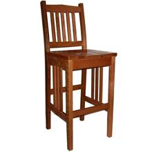 Amish California Mission Stationary Bar Stool