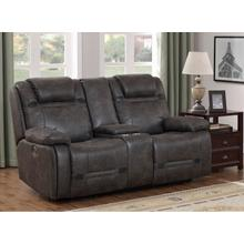 PRIME A454U-305-676G Badlands Charcoal Power Reclining Console Loveseat