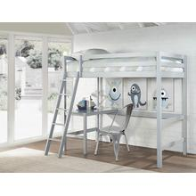 View Product - Glendale Twin Size Loft with Desk Grey