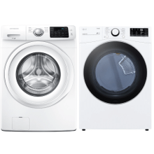4.2 cu. ft. Front Load Washer & 7.4 cu. ft. Ultra Large Capacity Smart wi-fi Enabled Front Load Electric Dryer- Open Box