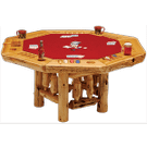 Cedar Poker Table - 8 Sided Product Image